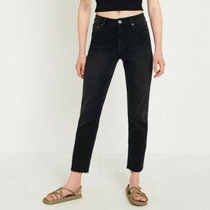 BDG Twig High Rise Black Skinny Jeans Raw Hem 27